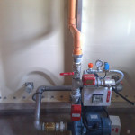 Welsh sprinkler system installation before fire sprinklers became mandatory in Wales
